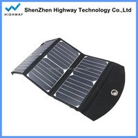 New design solar panel charger 21W with dual USB output for outdoor activities
