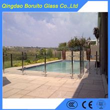 Hot sale 12mm tempered pool fence glass panels
