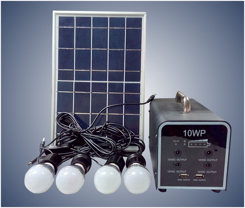 New Home Solar Lighting System With 10w Soar Panel