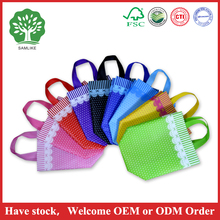used full printing non woven bag lace style for gift