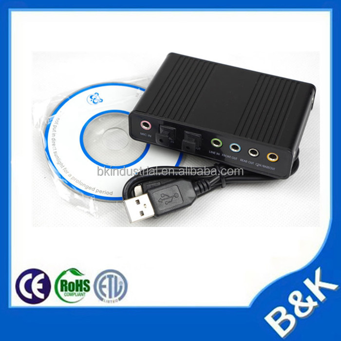 Alibaba USB Virtual 5.1 channel 3d sound card usb driver usb recording sound card
