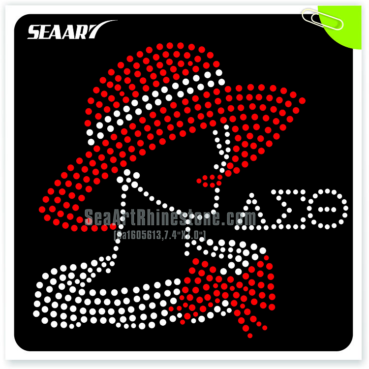 Iron on template red lip face hot fix rhinestone transfer for Free t shirt transfer templates