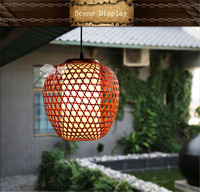 Chinese traditional handicrafts bamboo weaving lamps