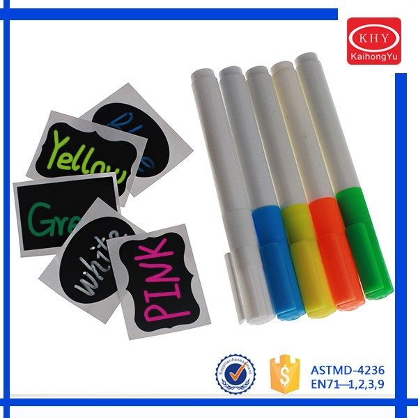 Promotional Chalkboard sticker with chalk marker set