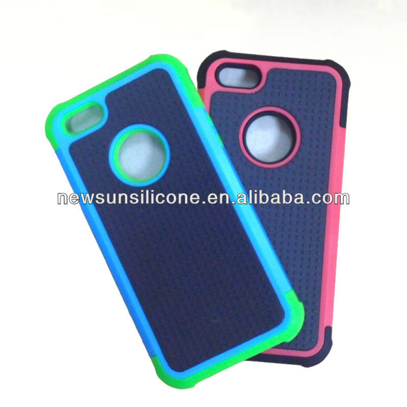 combo case(pc+silicone+pc) for iphone 5--Triple layer
