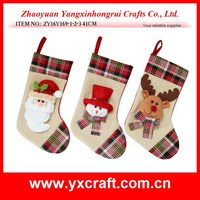 Christmas decoration (ZY16Y169-1-2-3 41CM) christmas santa red hat snomwan and cute reindeer stocking decoration