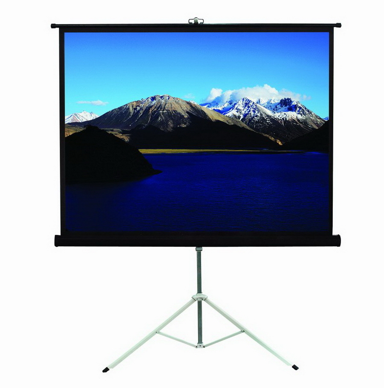 "1080p Projector Portable Tripod Screen with Ratio 1:1 96"" White Plastic Tripod Projector Screen for Portable Projector"