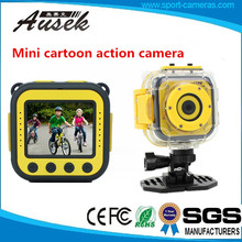 Best Children gift !! Green cartoon style waterproof HD 720P action camera hidden video camera for child