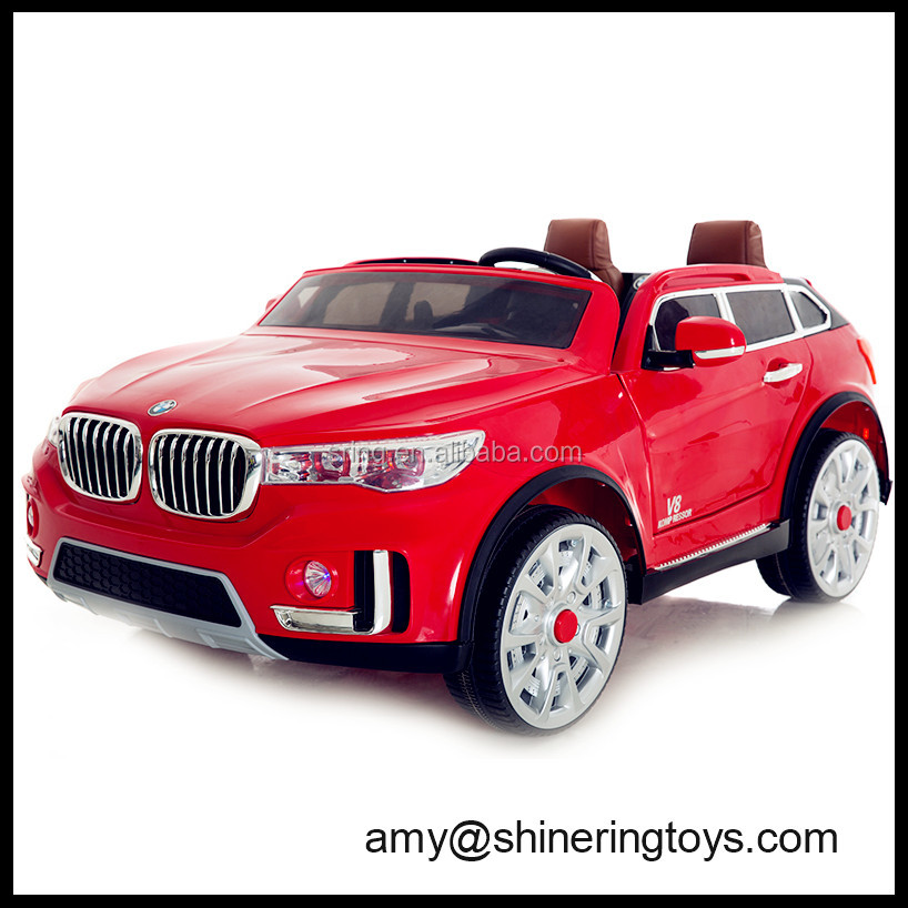 Red Hot selling two seat pedal car, with 2.4G r/c, music and light, soft leather seat kids car