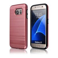 C&T Brushed Dual Layer Hybrid Case for Samsung Galaxy S7