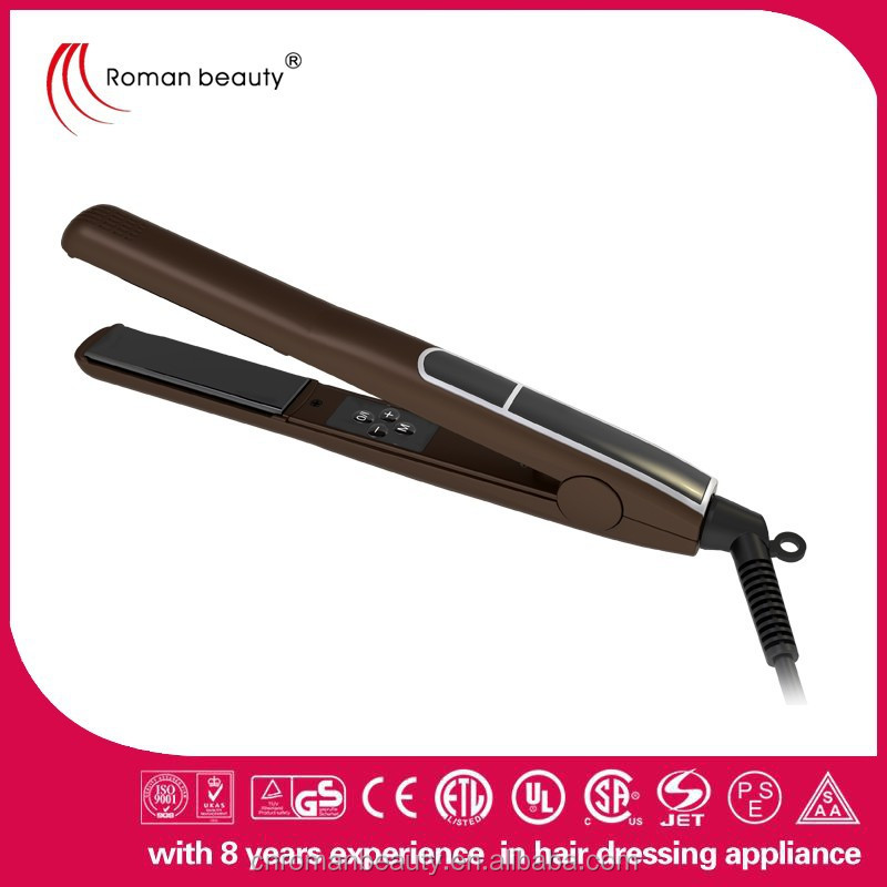 Best sell prefessional Nano titanium or ceramic plate hair straightener RM-33