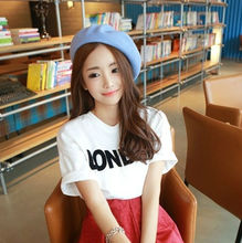 large wholesale 2014 summer new short sleeve t shirts for girls loose t shirts free Korea style