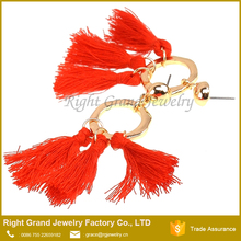 Wholesale Tassel Hypoallergenic Fancy New Model Stainless Steel Gold Earrings Designs With Price