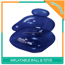 Advertising Logo Kids Plastic Inflatable Air Sofa Chair