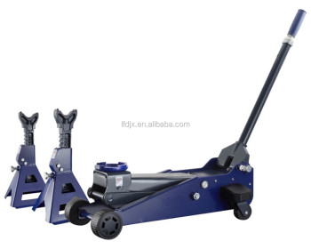 Professional 3 Ton Garage Floor Jack and Jack Stands Kit with Laser Guided Positioning