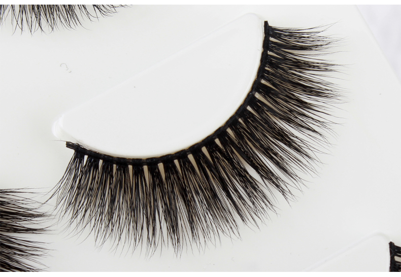 Natural 3d private label faux mink eyelashes false eyelash