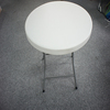 folding plastic table with 80cm top 74cm high