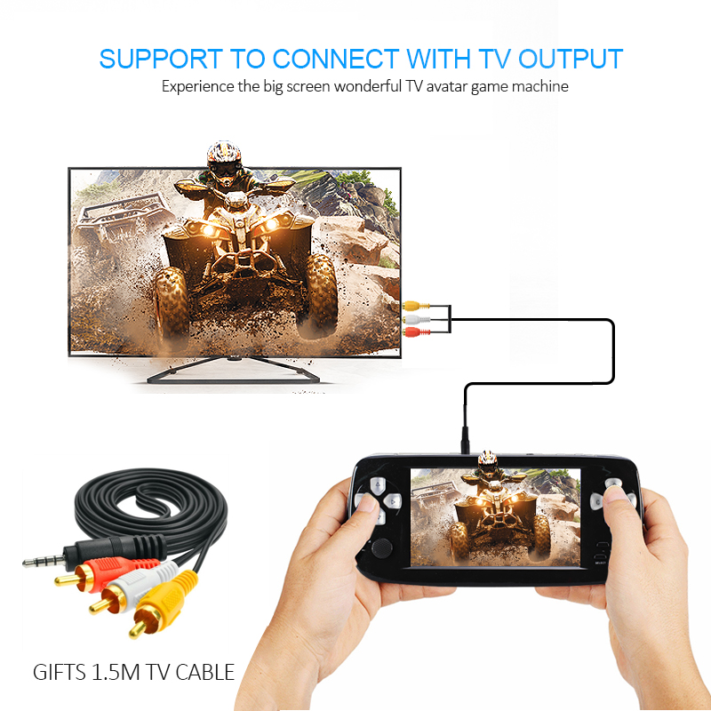 4.3 Inch HD Game Console 32 Bit Portable Game Player Bulit in 500 Games Handheld Game Console PAP-KIII
