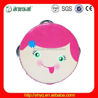 Hot sale musical instrument plastic tambourine with baby picture