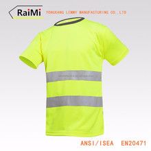 New Products High Quaility Cheap Round Neck Kids Safety reflective High Visibility T Shirt