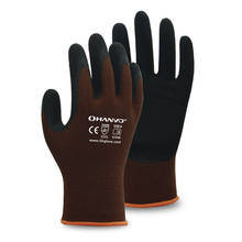 HANVO 13G Bamboo Fiber/Nylon Liner with Breathable Foam Latex Glove