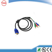 VGA to 3 RCA Component Video Cable Lead Converter for PC Laptop HD TV