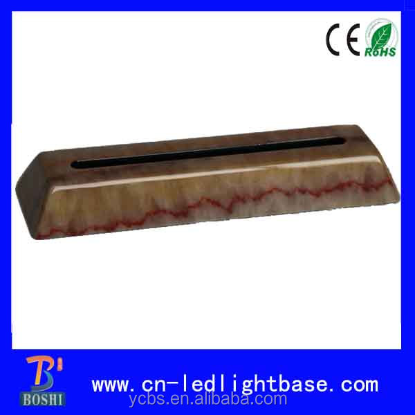 Wireless Piano marble finish wooden sculpture bases for 2d crystal and acrylic