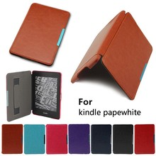 Smart sleep function case for kindle paperwhite cover,Leather case with hand holder for kindle paperwhite