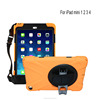 Rotation car seat tab holder hand belt protector case for iPad mini 2 3 carrying case with shoulder strap