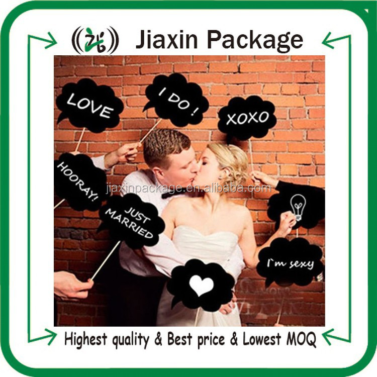 New arrival 10pcs DIY wedding party decoration photo booth props card