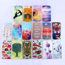 Slim Anti Skid Colorful Printed Transparent Tiger Lion Owl Clear Soft TPU Case Cover For Huawei p8 p8 lite Y5