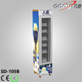 table use vertical slim type tempered glass door upright freezer for storage