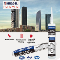 Weathering resistance glass roof silicone sealant