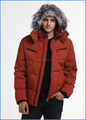 men jacket waterproof down jackets with real fox fur