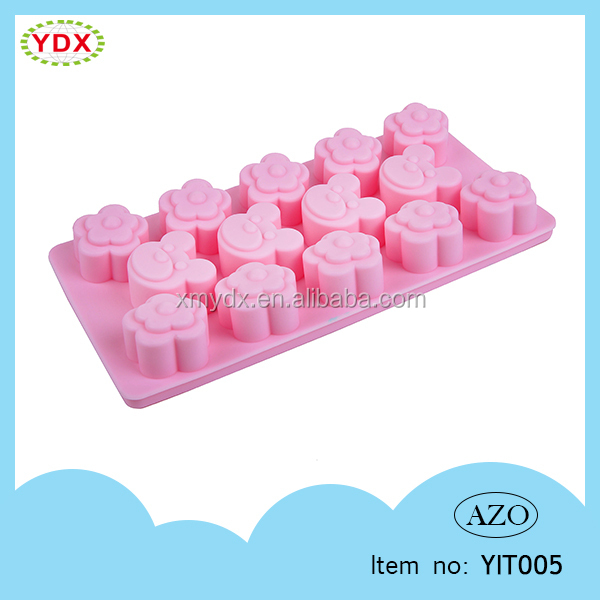 Custom ice cubes promotional tray model silicone ice tray