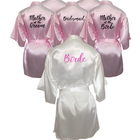 C&Fung personalized printed Bridal Party Robes Bridesmaids mother of the bride groom maid of honor Wedding Day gift satin robe