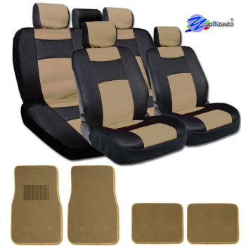 Elegant Design Universal Size Mesh and Synthetic Leather Bucket Car Truck Seat Covers