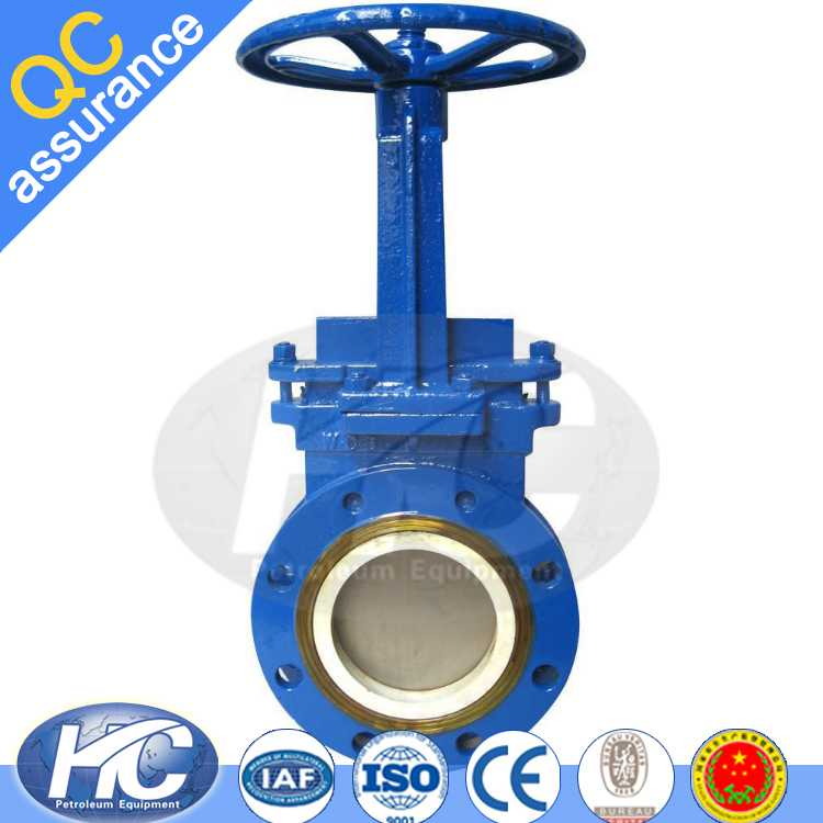 High pressure flange connection end gate valve / non-rising stem gate valves