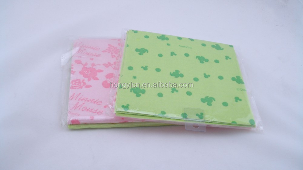 printed super absorbent non-woven fabric cleaning cloth or rags