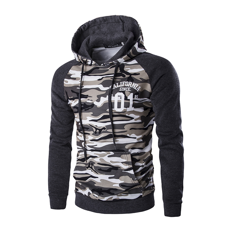 Wholesale camouflage can be customized high quality men's hoodies