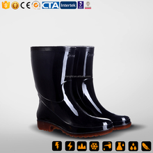 classic pvc clear rain boots for men