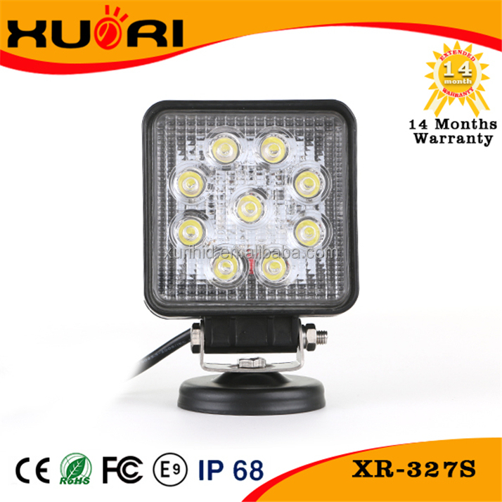 Hot Sale!!12v 27w spot beam magnetic base LED working lights for heavy duty off road truck boat atv