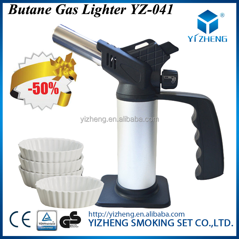YZ-041 CHEF KITCHEN BUTANE GAS HEATING BIG LIGHTER BLOW MICRO TORCH