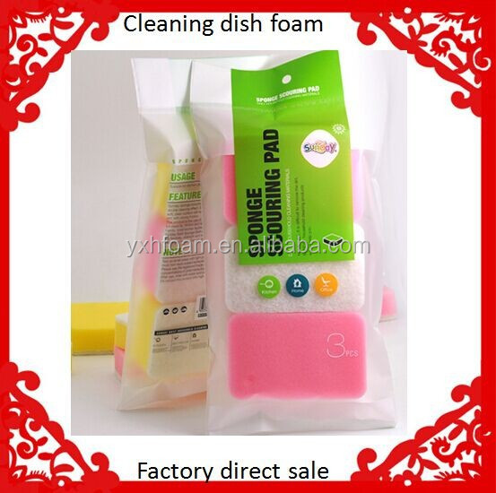 Wholesale Kitchen cleaning scouring foam pad dish washing sponge