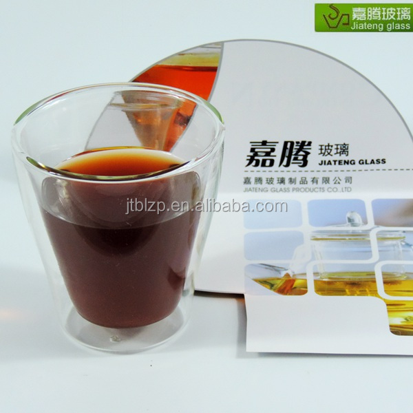 Original Design Patented Handmade Double Wall Glass Cup for Coffee/Tea/Beer/Water