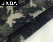 Wholesale wool polyester acrylic camouflage knitted clothing fabric