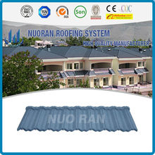 NUORAN zinc coated steel roof tile better than pvc plasitic roof tile/high quality sand roof tile