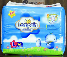 Baby plastic diapers with PE film backsheet