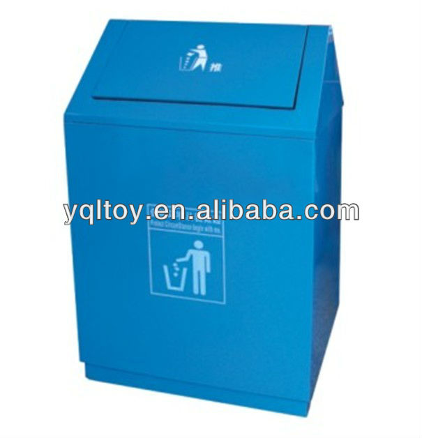 push rubbish bin/outdoor waste receptacle/stainless steel recycle can