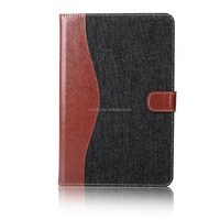 Contrast color Leather case with card slot for iPad Mini 4